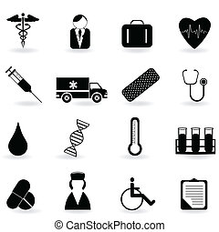 Healthcare symbols - Medical and health care related symbols