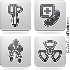 """Healthcare - 4 icons in """"Healthcare"""" 22 degrees blue icons..."""