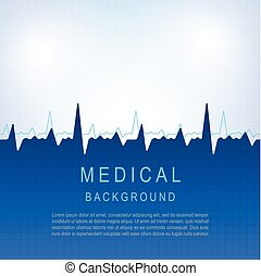 Healthcare vector medical background with heart cardiogram-2