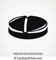 Healthcare vector Pill icon. Modern flat design.