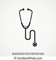 Healthcare vector Stethoscope icon. Modern flat design.