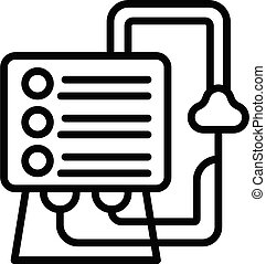Healthcare ventilator medical machine icon. Outline healthcare ventilator medical machine vector icon for web design isolated on white background