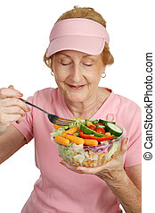 Healthful Eating - A woman dressed for Breast Cancer ...