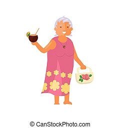 Old woman character