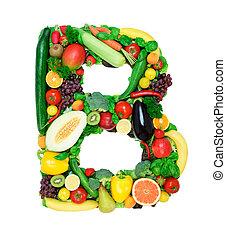 Healthy alphabet - B