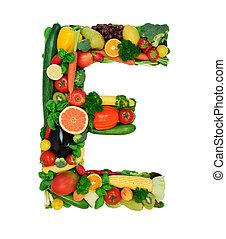 Healthy alphabet - E1