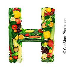 Healthy alphabet - H