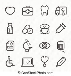healthy and medical line icon