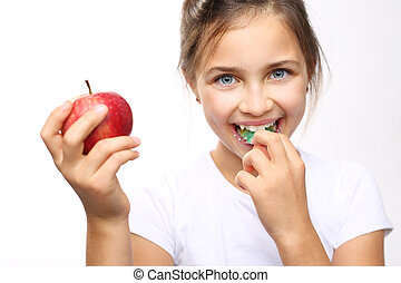 Healthy and strong teeth child