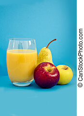 healthy apple and pear juice - ingredients for a healhy...