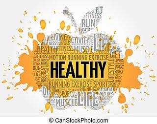 HEALTHY apple word cloud