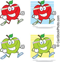 Healthy Apples Character Jogging