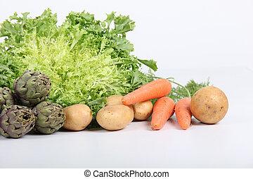 healthy  arrangement vegetables