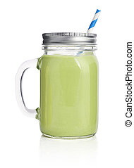 Healthy avocado green smoothie