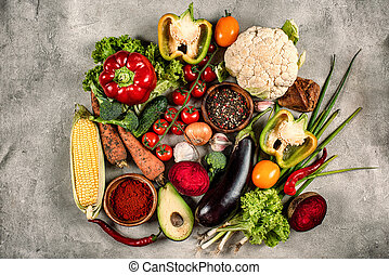 Healthy background of vegetable. Concept of genuine food