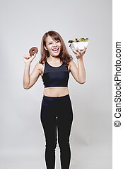 Healthy Beautiful Asian woman smiling
