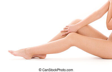 healthy beautiful woman legs - picture of healthy naked...