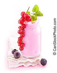 Healthy Berry Smoothie - Healthy berry smoothie in a glass...