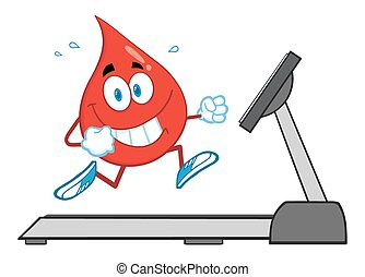 Healthy Blood Drop Character