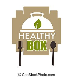 Healthy box, dietary lifestyle woth food rich in minerals -...