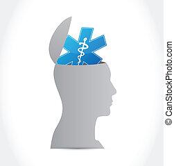 healthy brain illustration design