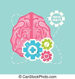 healthy brain with gears process work