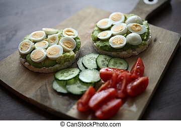 Healthy breakfast at home