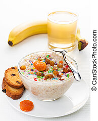 healthy breakfast on a light background