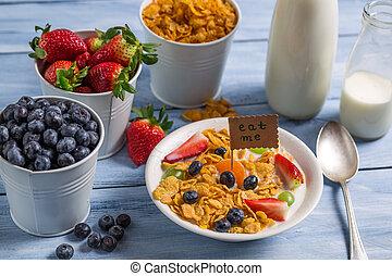 Healthy breakfast ready to eat