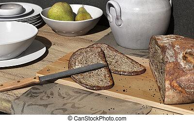 Healthy breakfast scene