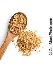 Healthy buckwheat flakes.