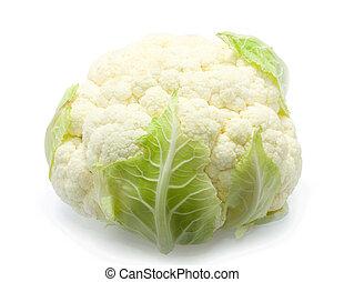 Healthy cauliflower over white