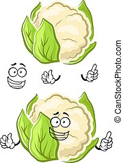 Healthy cauliflower vegetable cartoon character