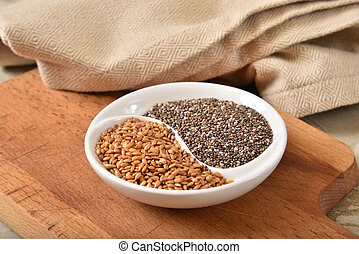 Healthy Chia and Flax Seeds