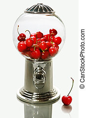 Healthy choice - A healthy snack of cherries in a candy ...