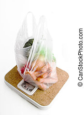 Healthy Choice - Healthy vegetables in a clear plastic ...