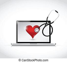 healthy computer concept illustration design