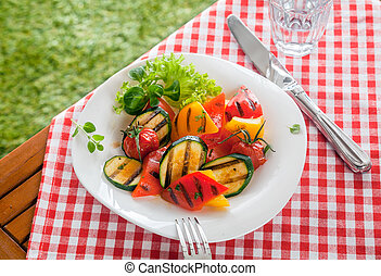 Healthy country roasted vegetables, veggy food - Healthy...