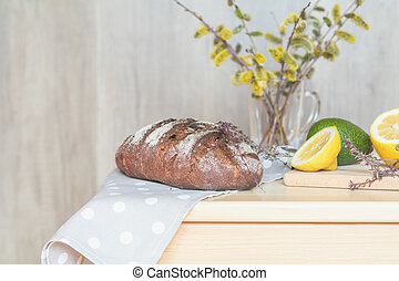 Healthy delicious nutritious breakfast, cozy home