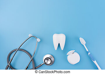 healthy dental equipment tools for dental care Professional Dental concept