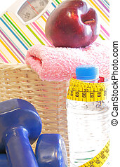 Healthy diet and fitness equipment