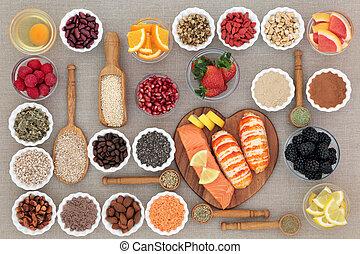 Healthy Diet Food with Herbal Medicine - Healthy diet food...