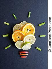 Healthy diet ideas concept