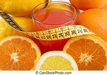 healthy diet of fresh fruit
