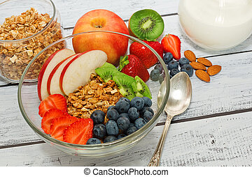 Healthy dieting meal concept