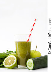 Healthy drink with spinach