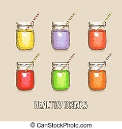 healthy drinks set