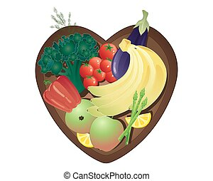 healthy eating - a vector illustration in eps 10 format of a...