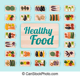 Healthy eating and fresh vegetables