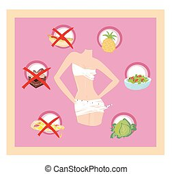 healthy eating - card